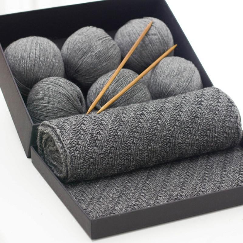 手工diy编织材料中粗围脖细毛线特价男女士山羊绒围巾