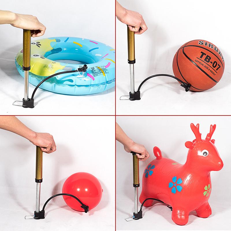 儿童自行车打气筒气球篮球高压便携式迷你气筒家用电动车单车配件