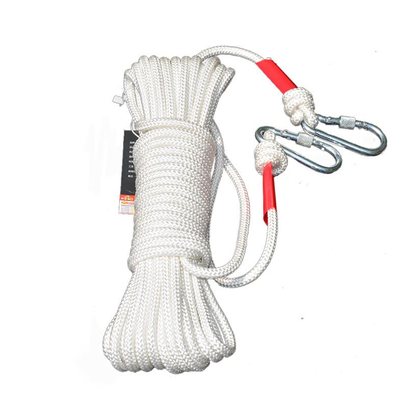救生保险绳应急逃生绳求生安全带外墙装备绳索救援防火灾编织绳家100