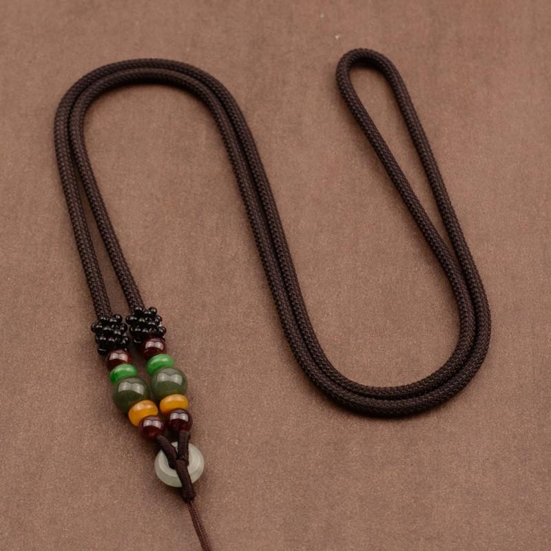 翡翠手工编织项链绳平安扣玉佩貔貅吊坠挂绳挂件绳子男女