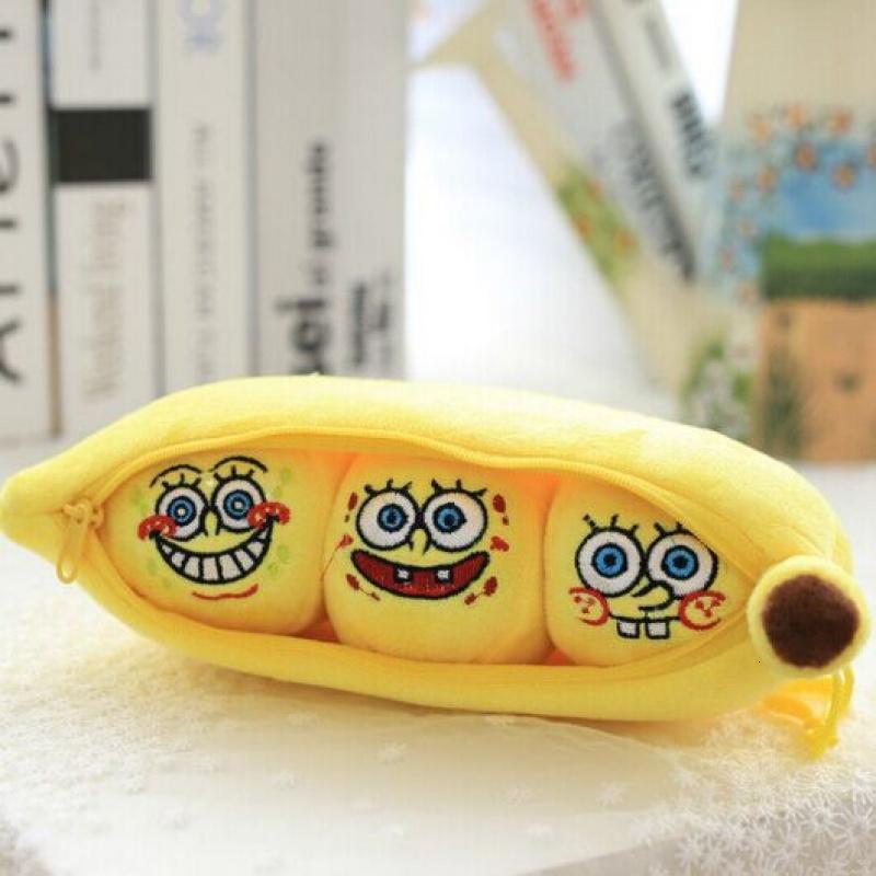 创意超萌小黄人布娃娃香蕉豌豆荚抱枕可爱玩偶女生日礼物