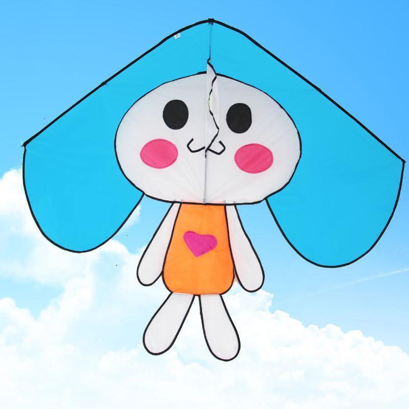 运动户外风筝 开心兔子风筝 儿童卡通风筝 三角风筝 多色好放飞