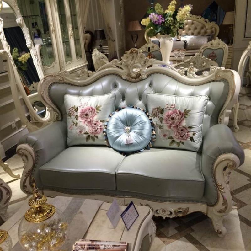 欧式真皮沙发组合 欧式实木雕花高档别墅123沙发法式客厅沙发