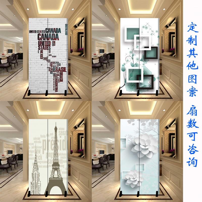 中式屏风隔断简约现代卧室客厅办公室美容院风水小型2