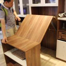 隐藏式伸缩折叠桌五金配件 多功能隐形餐桌书桌家具五金连接滑轨图片