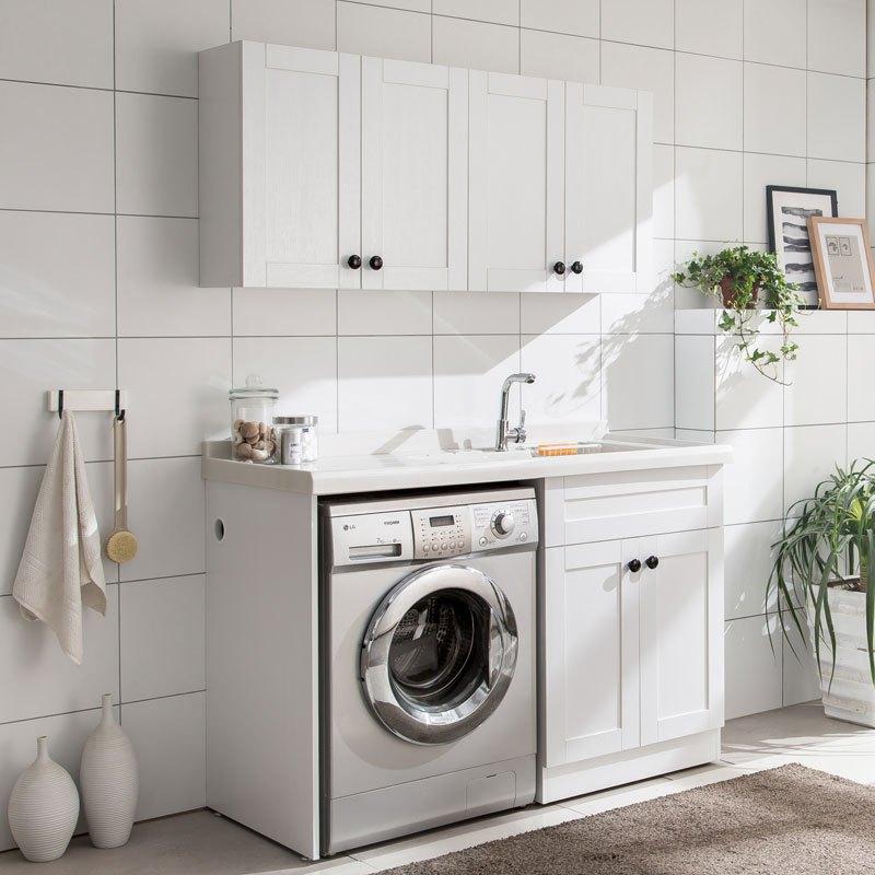 洗衣機柜 滾筒洗衣柜伴侶 石英石洗衣池 洗衣機柜子 陽臺組合柜