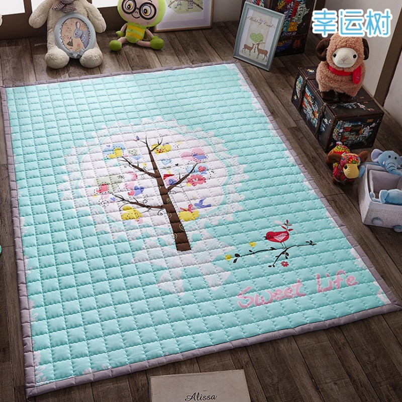 卡通动漫儿童房地毯可爱公主宝宝卧室满铺儿童地毯床边客厅可机洗