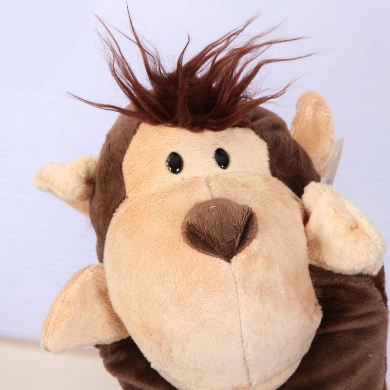 婴儿手偶玩具宝宝动物家族手偶儿毛绒布艺安抚手玩偶表演