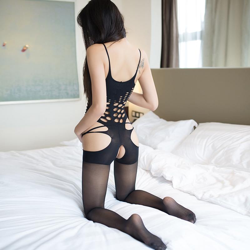 情趣连体情趣连身袜情趣内衣开裆露乳性感极度v情趣sm骚消情丝袜魔难网图片