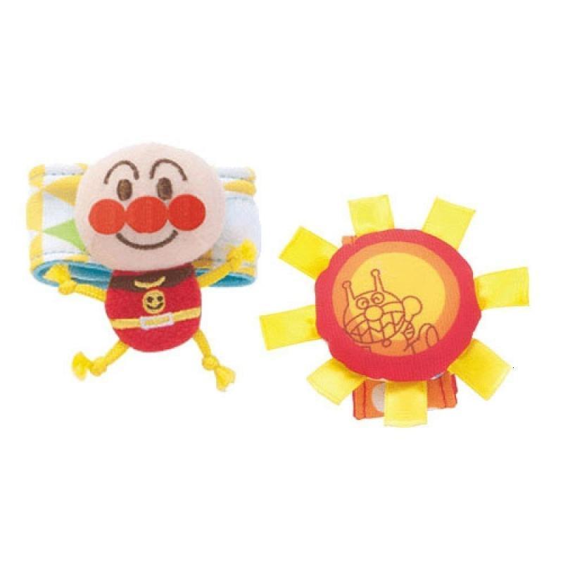 日本面包超人初生婴儿布艺玩具小玩偶小太阳0岁 可爱套环
