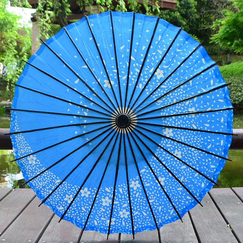 复古日本和风油纸伞粉红樱花日式装饰伞仿古古典实用cos红色道具