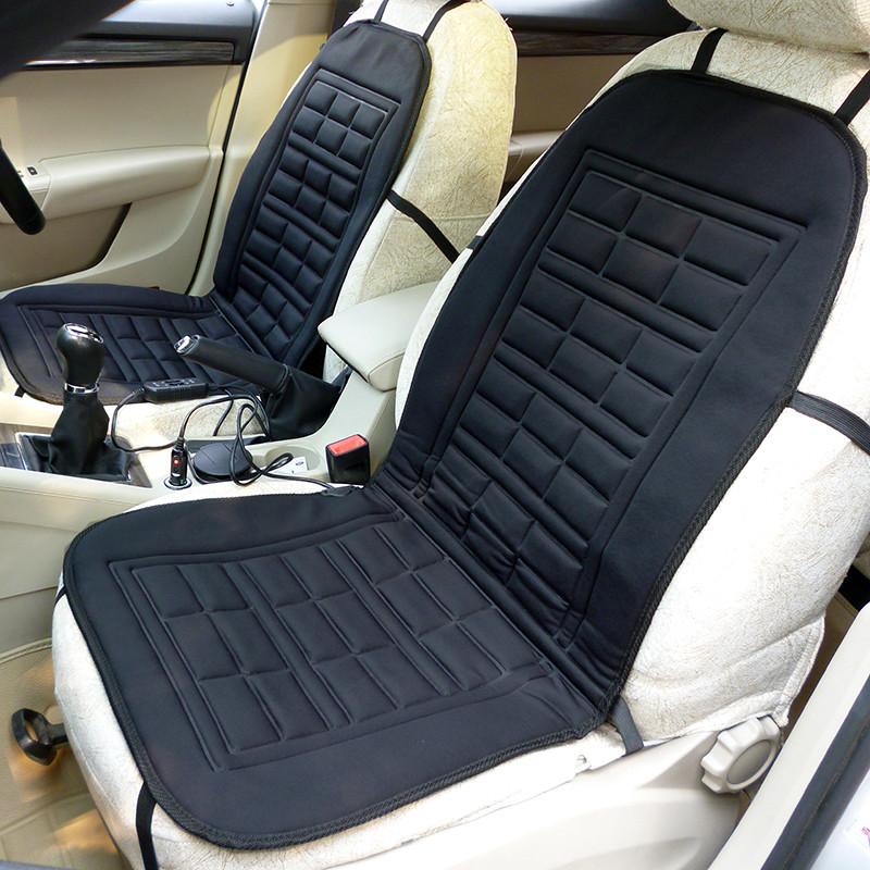 汽车加热坐垫冬季车载座椅电加热靠垫低碳纤维12v养生