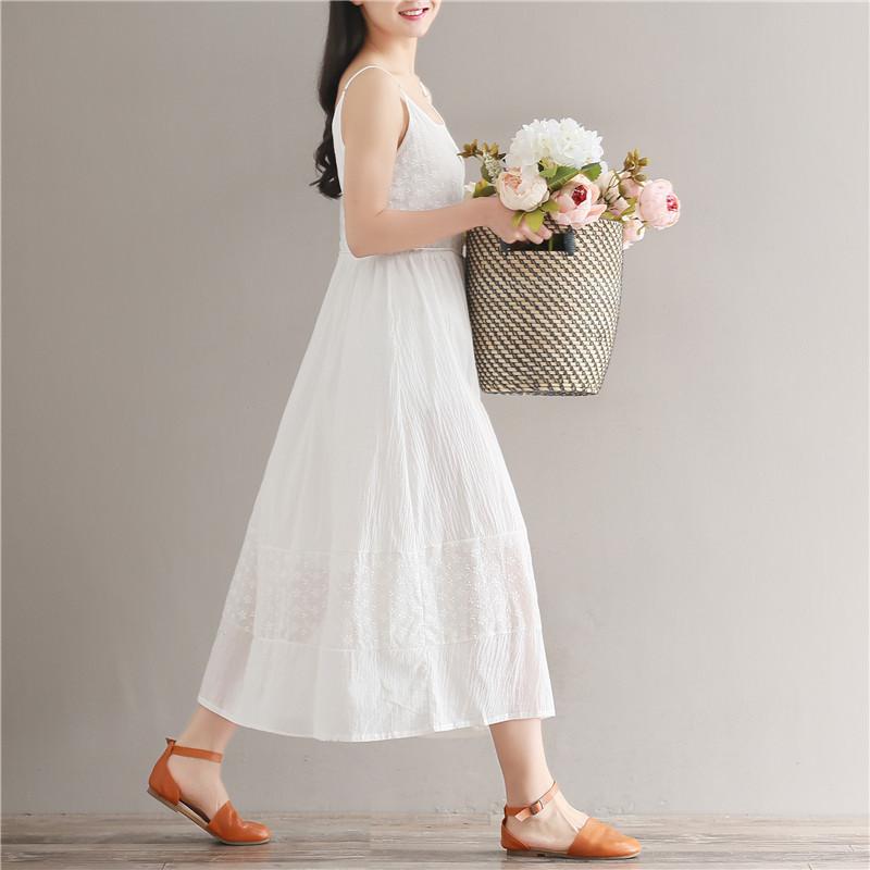 棉布裙子女秋纯棉