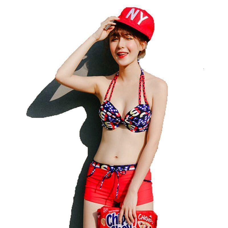 户外运动2016夏季平角裤女士比基尼可爱性感罩衫聚拢温泉游泳衣