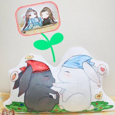 动漫二次元魔道古风祖师抱枕蓝定情忘机魏兔子无羡湛婴玩偶挂件.