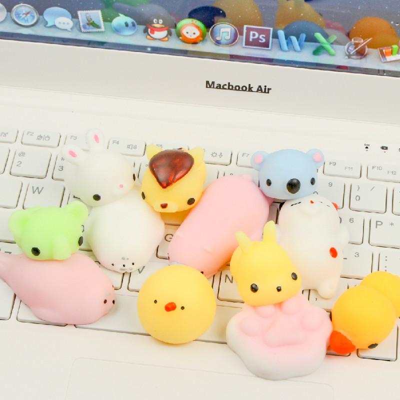 可爱动物捏捏乐创意发泄减压球儿童迷你解压团子公仔地推无聊玩具 25