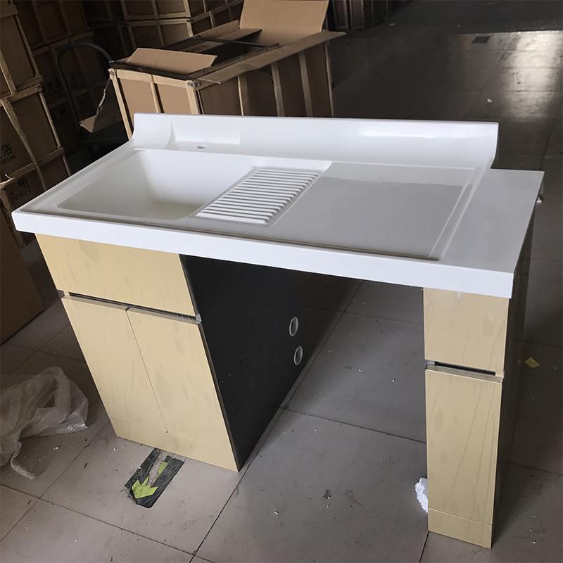 松在卫浴定制转角阳台浴室柜组合滚筒洗衣机伴侣太空铝柜子石英石台面