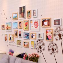 简约现代客厅照片墙 韩式相框墙 欧式创意背景挂墙相框相片墙组合 白图片