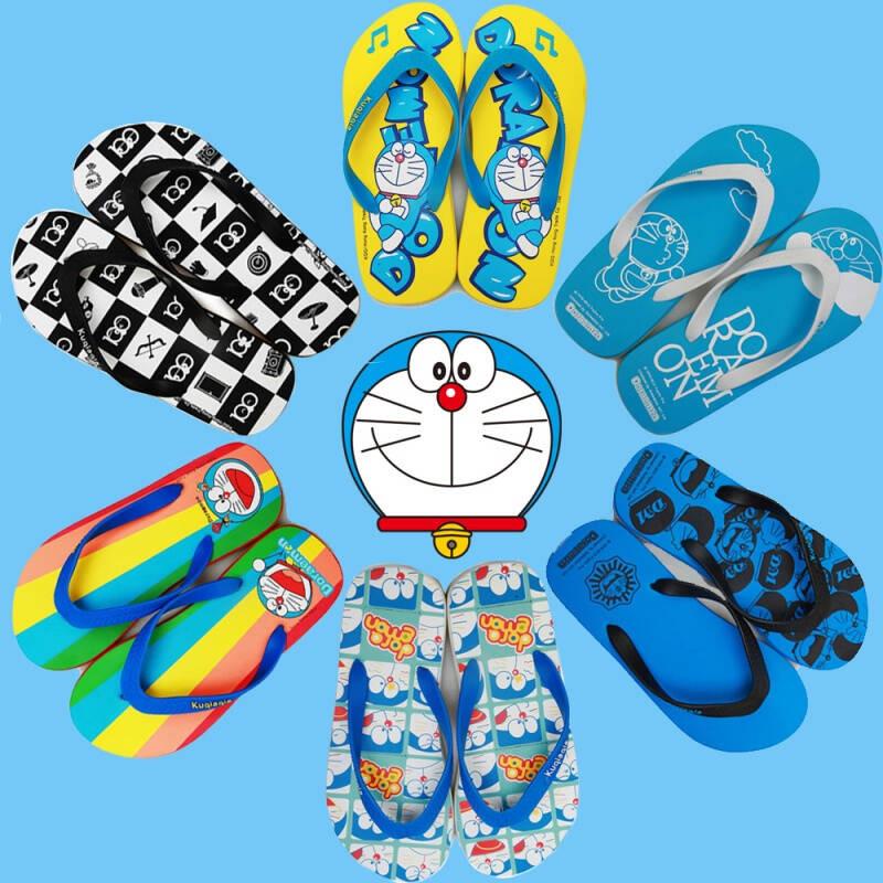 人字拖男潮拖鞋夏机器猫学生动漫男女情侣沙滩平跟拖鞋