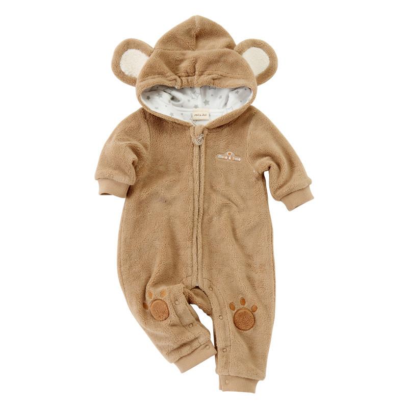 婴儿连体衣春装动物衣服爬爬服哈衣珊瑚绒抱衣春秋男女宝宝外出服