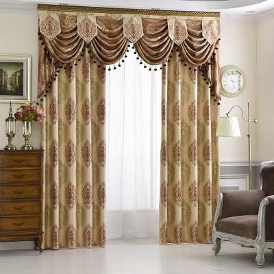 定制欧式客厅窗幔帷幔帘头窗帘遮光防晒卧室阳台飘窗窗帘成品 窗帘布图片