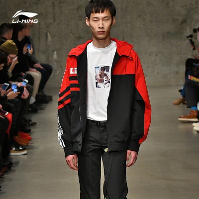 中国李宁纽约时装周走秀款风衣男女同款时尚休闲运动外套AFDN371