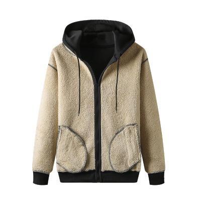度度兔(Dudutu)运动服大码套装男加绒加厚连帽羊羔绒外套男士卫衣秋冬款
