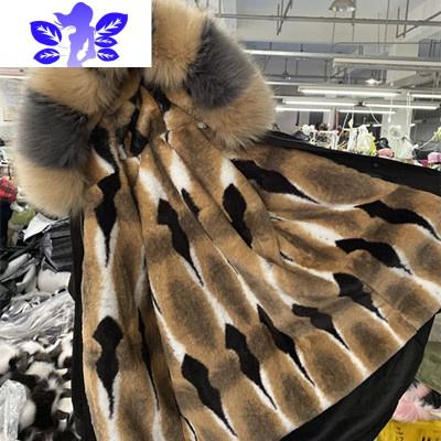 派克服大衣女冬季2019新款可拆卸中长款獭兔毛内胆皮外套狐狸毛