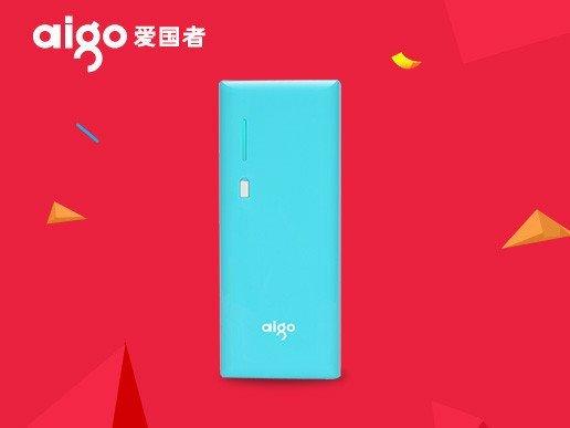 aigo移动电源k112升级2a输入10000毫安蓝色