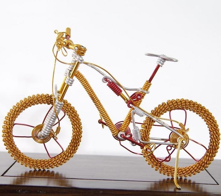 时尚创意自行车 纯手工编制自行车工艺摆设