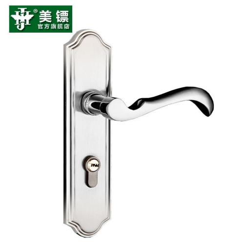 美镖门锁室内卧室房门锁欧式木门锁纯铜锁芯简约门把手实木门锁三件套