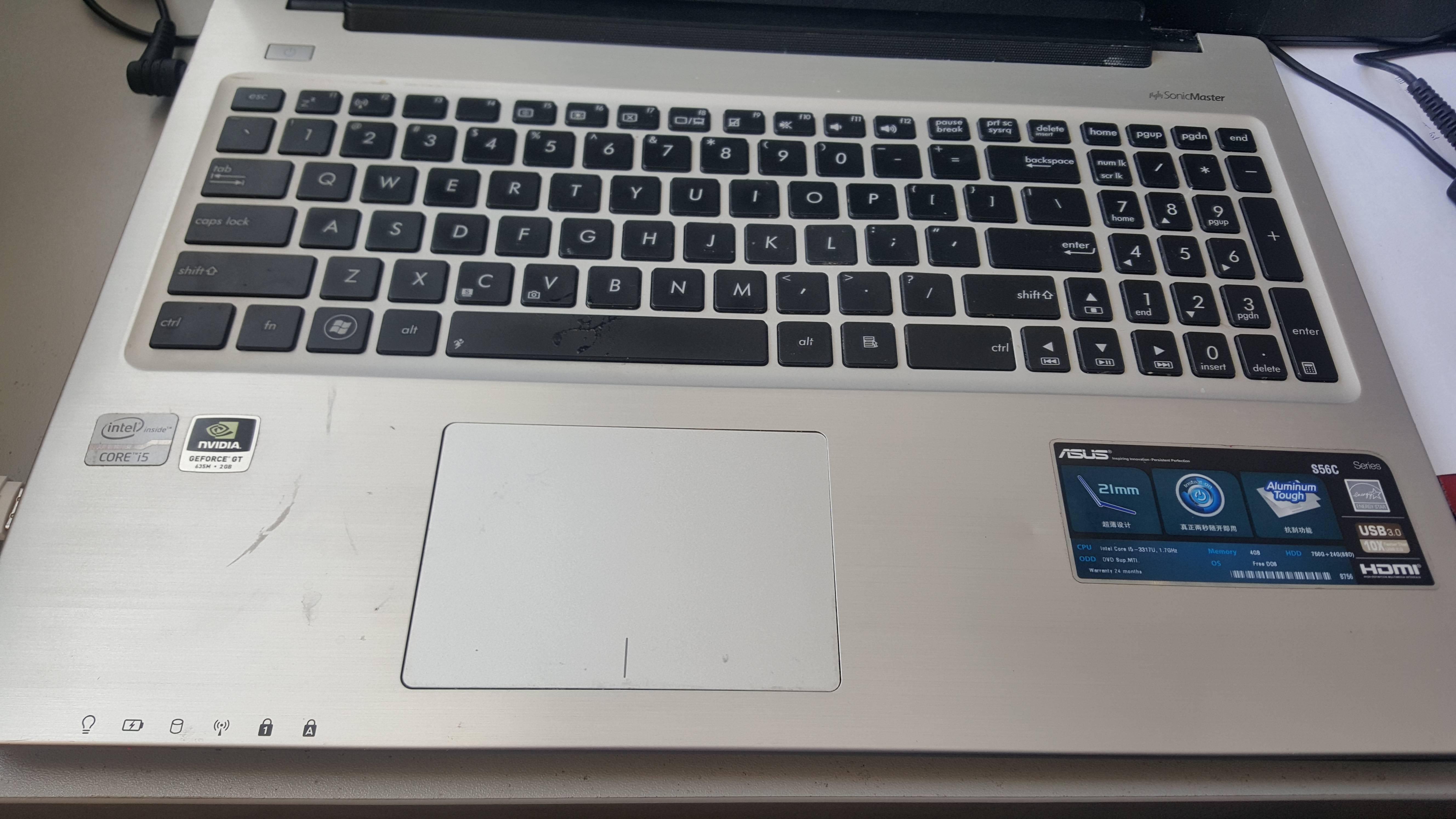 我的华硕笔记本锁定 解锁触摸屏的快捷键没反映