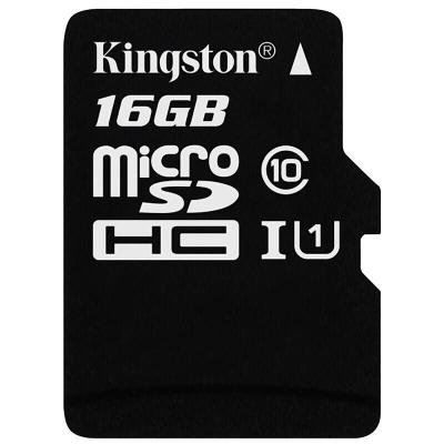 金士顿(Kingston)16GB TF卡 读80MB/s 高速CLASS 10手机记录仪监控内存卡 存储卡 tf卡