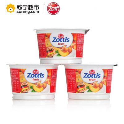 德国进口Zott卓德脱脂酸奶常温水蜜桃味100g*10杯