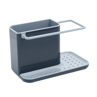 英国Joseph Joseph 百洁布海绵收纳架/厨房置物架/可拆卸清洗厨具(12*20*11CM)黑灰