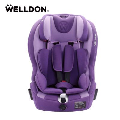 Welldon惠尔顿儿童安全座椅汽车9个月-12岁isofix婴儿宝宝酷睿宝普罗旺斯紫
