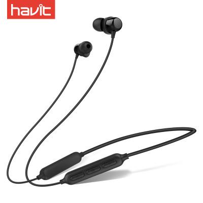 自营海威特(Havit)I39运动蓝牙耳机跑步入耳式无线双耳立体声迷你磁吸重低音耳麦 vivo小米苹果iphone适用