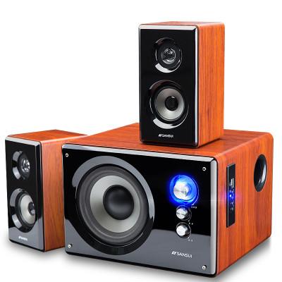 Sansui/山水 (80A)蓝牙电视音响重低音炮影响2.1有源多媒体木质台式机电脑笔记本家用手机音响低音炮支持无损音乐
