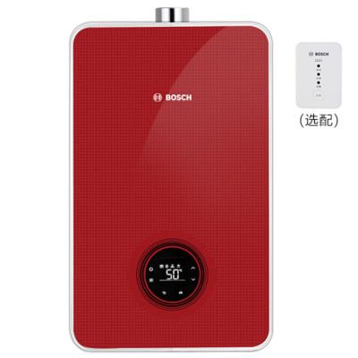 博世 BOSCH 燃气热水器16升 新升级水量伺服器 双卫沐浴多彩定制玻璃面板 热水器 Therm 6800 F Red
