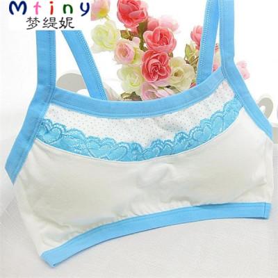 Mtiny少女初中小学生女孩儿童发育期裹胸小背心式内衣抹胸棉文胸夏季